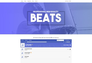 Music Website Template